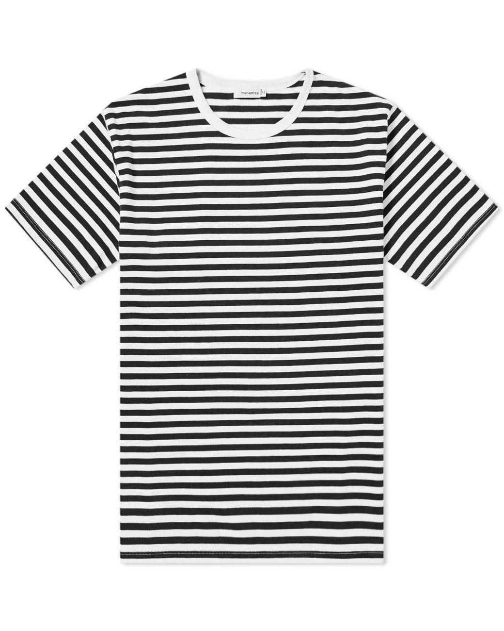 072ce28fe733 Nanamica Coolmax Stripe Jersey Tee in Black for Men - Save 35% - Lyst