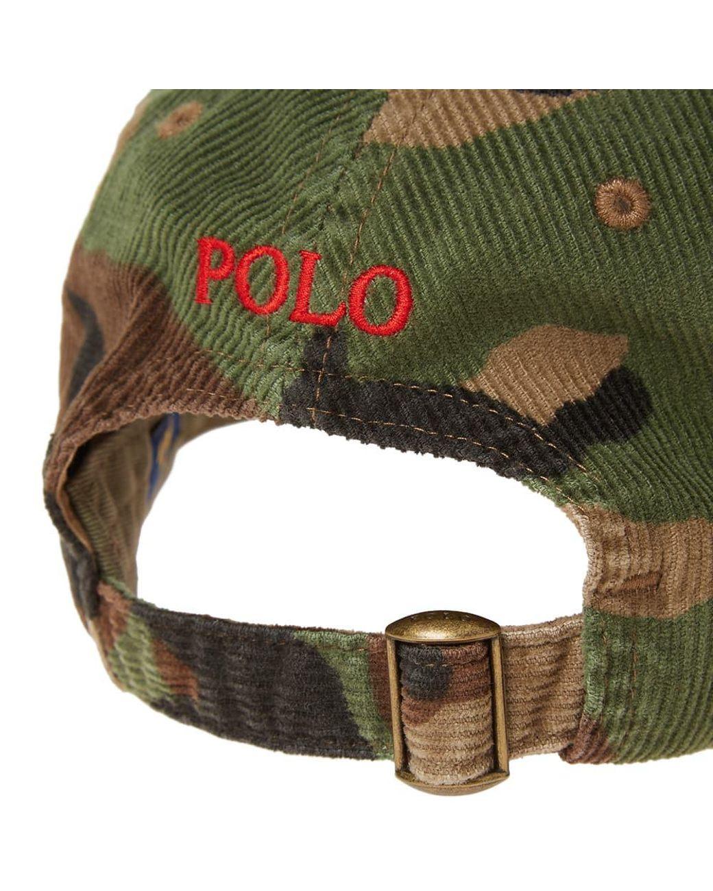 ad24e825c8843 Polo Ralph Lauren Corduroy Cap in Green for Men - Lyst