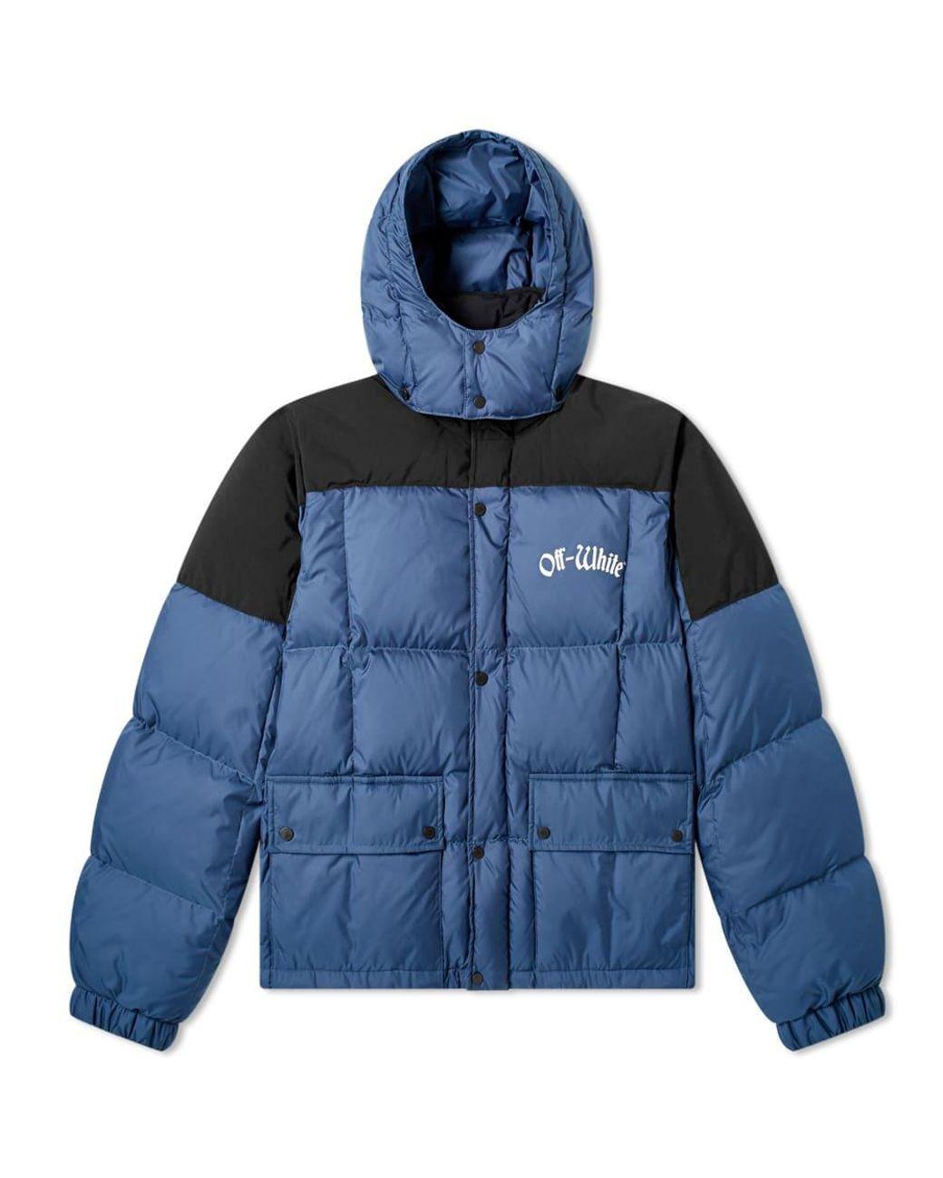 85cb745da8d2 Lyst - Off-White c o Virgil Abloh Ski Puffer Jacket in Blue for Men