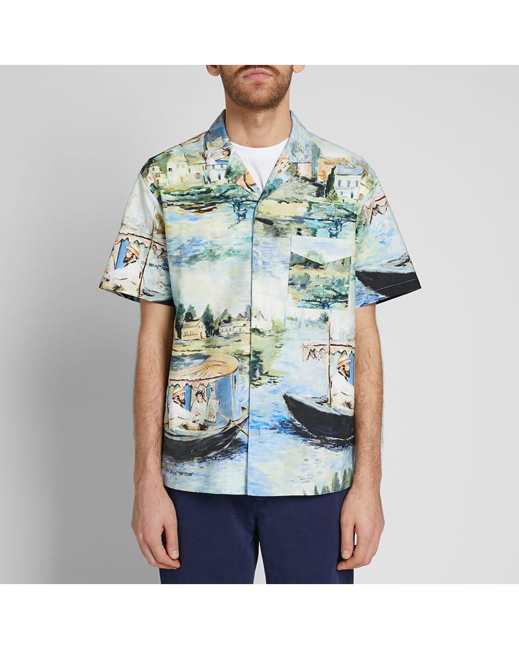 78e86719f2226 Off-White c/o Virgil Abloh Lake Print Vacation Shirt in Blue for Men - Save  67% - Lyst