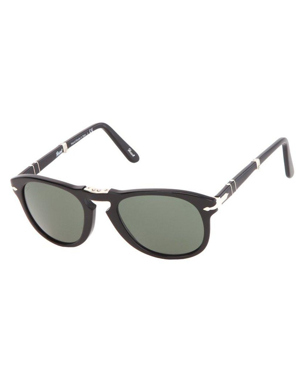 cc1c1a1b8bfab Persol Round Frame Sunglasses in Black for Men - Lyst