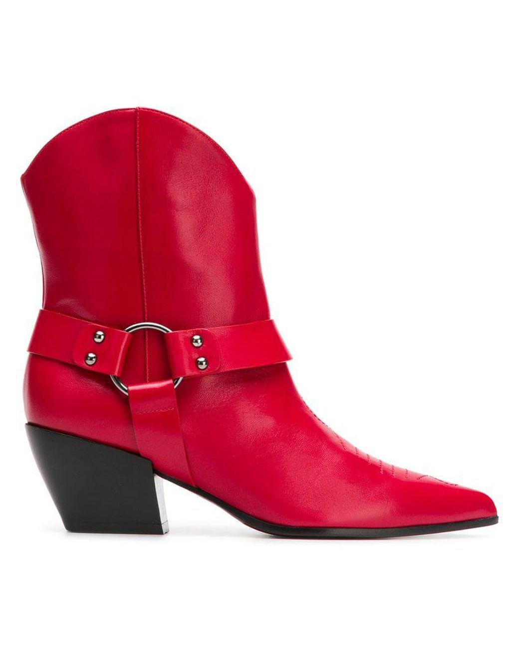 detailed look 7db30 0763a Women's Red Cuban Heel Ankle Boots