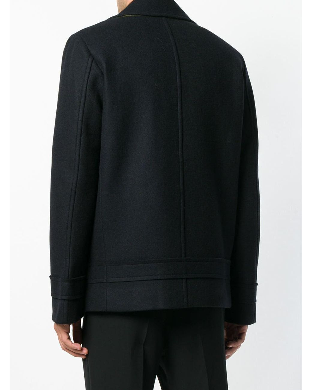 a77d5ea64 Helmut Lang Raw Band Peacoat in Black for Men - Lyst