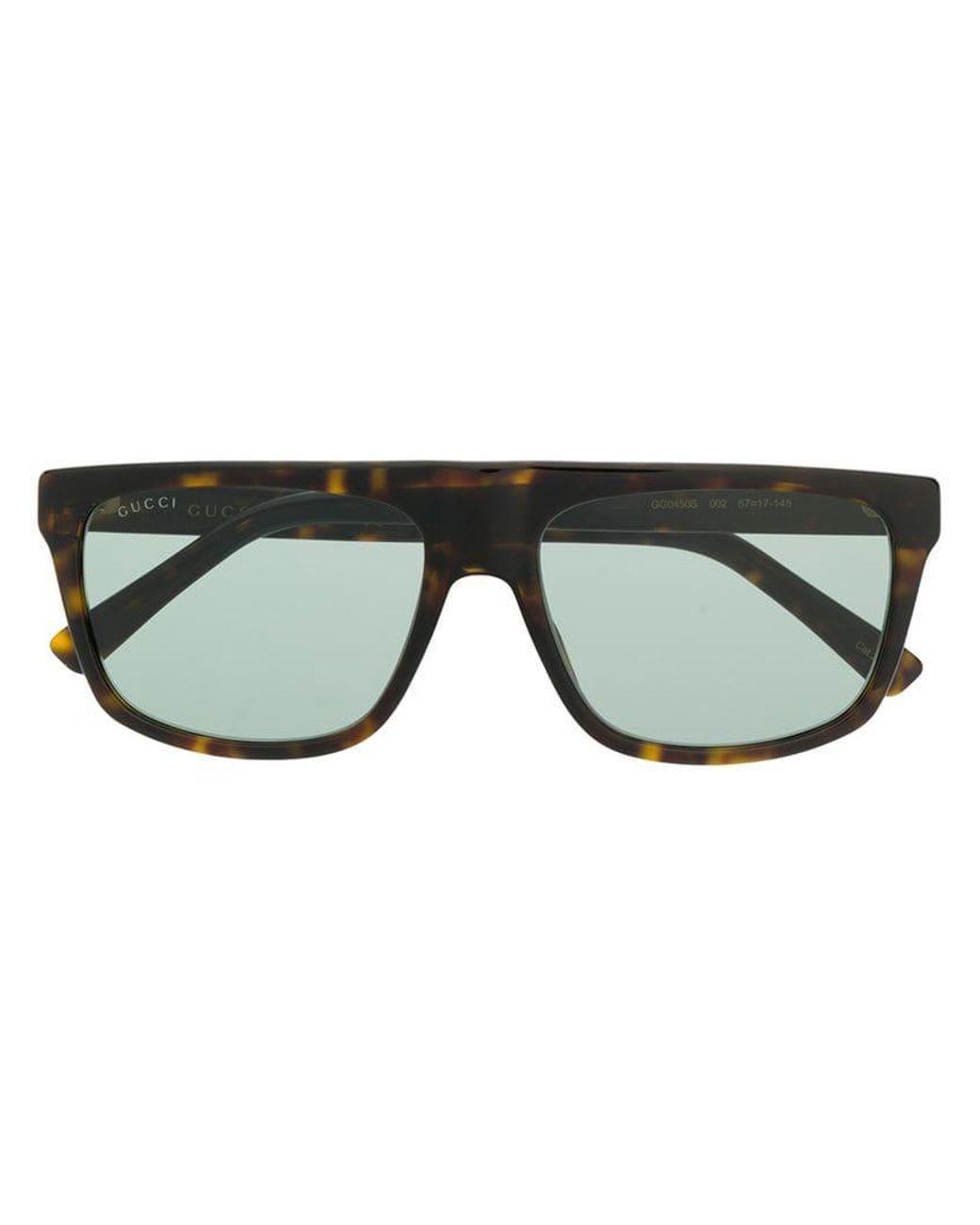 5b2e71066c95d Gucci Tortoiseshell Square Frame Sunglasses in Brown for Men - Lyst