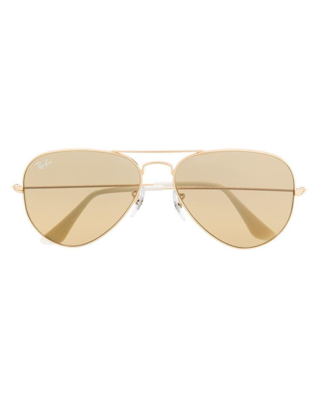 e50a399826 Ray-Ban Aviator Frame Sunglasses in Metallic - Lyst