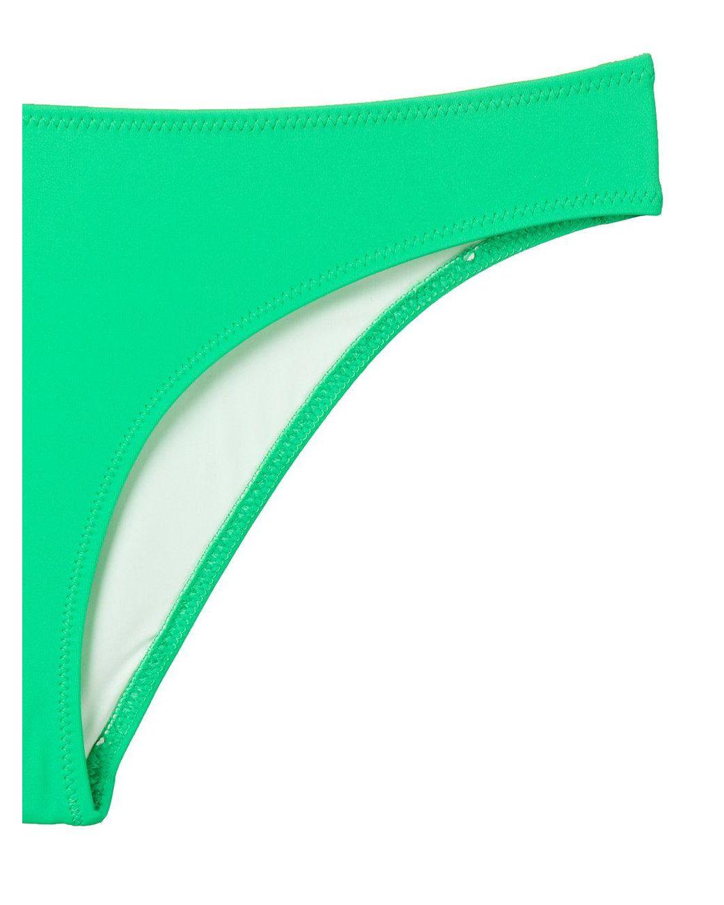7682dfbab2 Solid & Striped Colour Block Bikini Bottoms in Green - Lyst