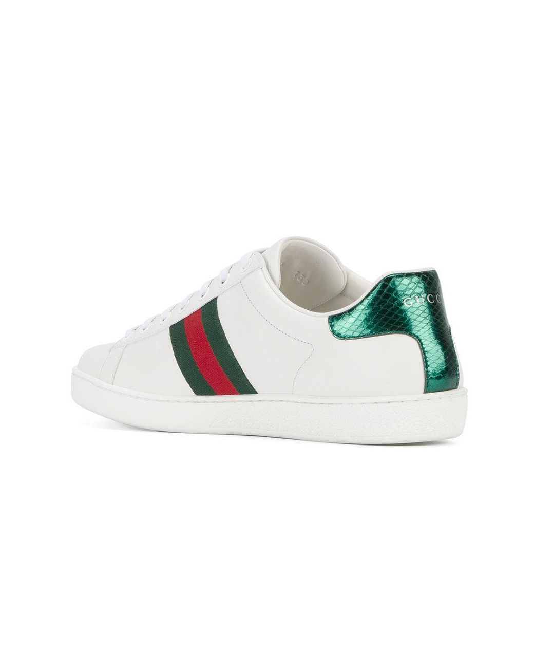 154ead0bb5243 Lyst - Gucci Heart Dagger Ace Sneakers in White - Save 30%