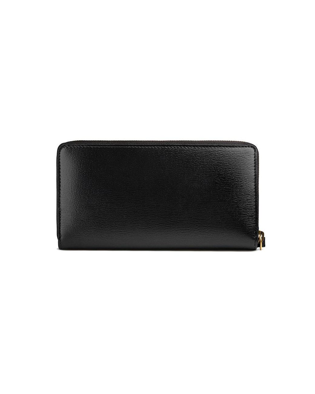 f59b30b620c6 Gucci Kingsnake Print Leather Zip Around Wallet in Black for Men - Lyst