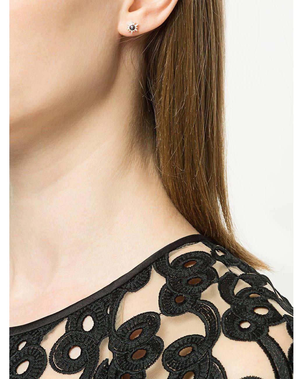 5e52276739f Karen Walker Temptation Stud Earrings in Metallic - Lyst
