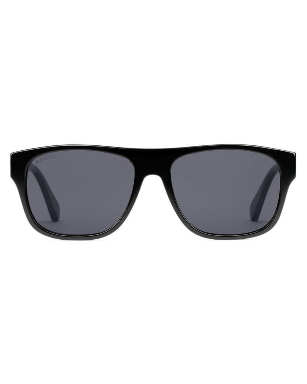 51a139fc0e5 Long-Touch to Zoom. Long-Touch to Zoom. 1  2  3. Gucci - Black Rectangular-frame  Acetate Sunglasses for Men - Lyst ...