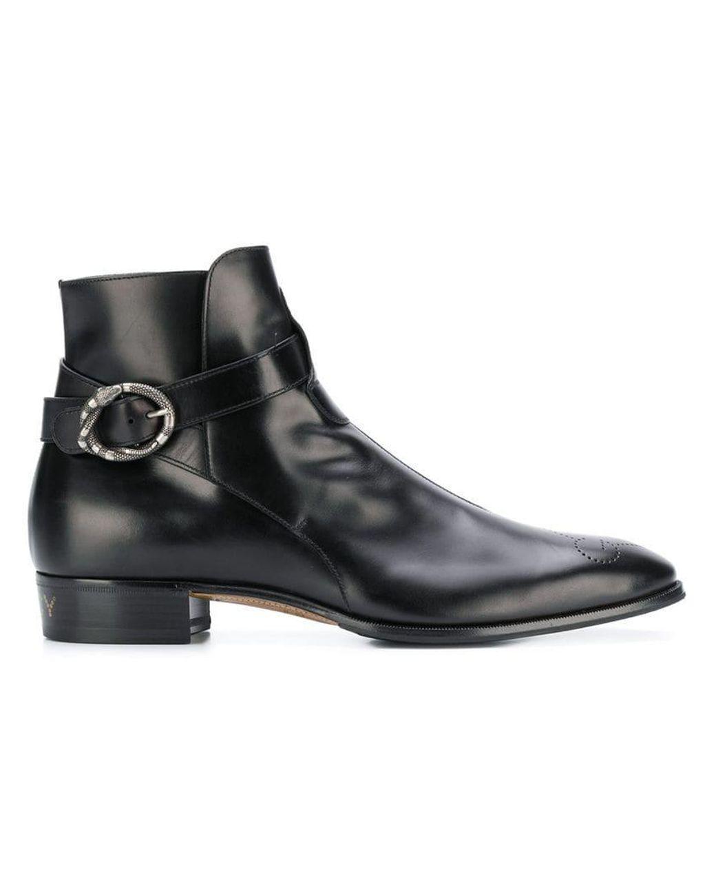 a8ea3e44101 Gucci Guccy Plata Boots in Black for Men - Lyst