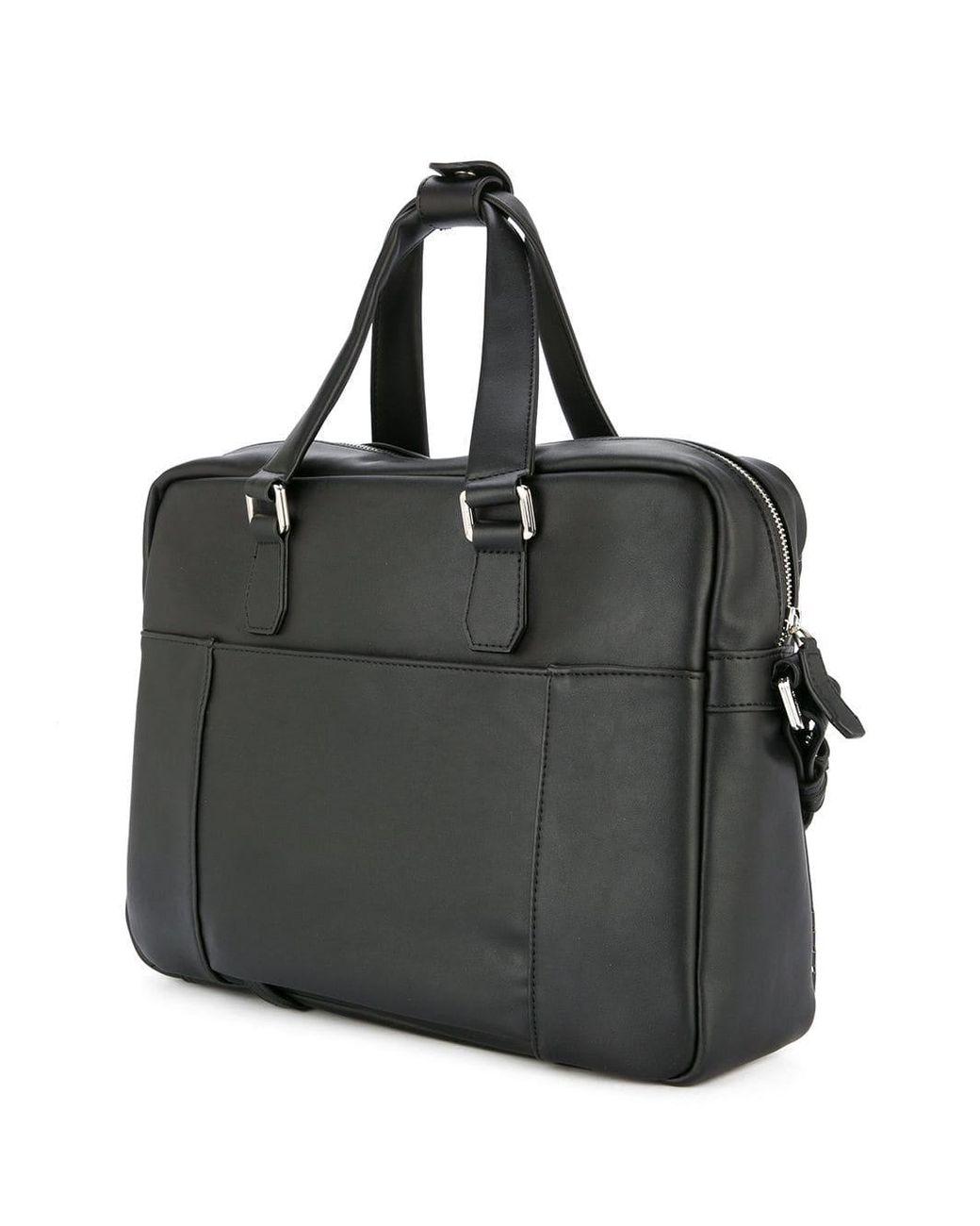 7c2f4ec207f Cerruti 1881 Punch Hole Detailed Briefcase in Black for Men - Lyst