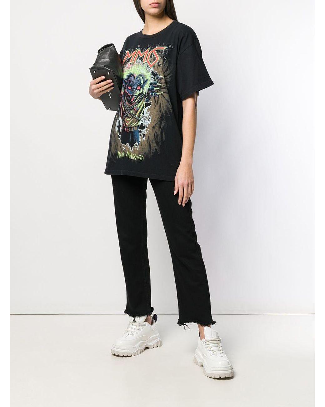 9ef3b615 MM6 by Maison Martin Margiela Zombie Cat Print T-shirt in Black - Save 60%  - Lyst