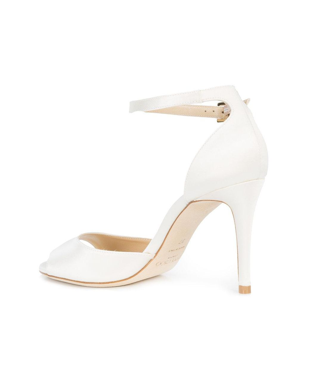 18e768028 Jimmy Choo Annie 85 Sandals in White - Lyst