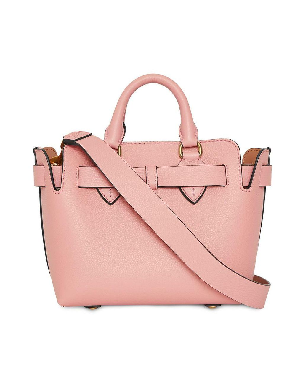 98d00727f1741 Burberry The Mini Leather Belt Bag in Pink - Save 42% - Lyst