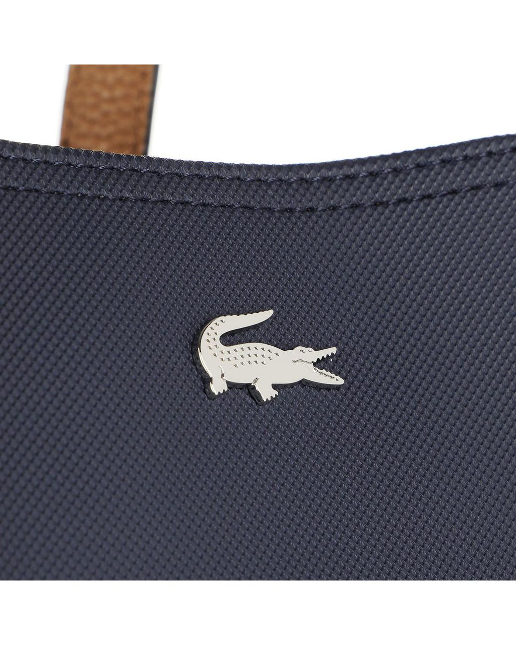 01a232a5107c Lacoste Shopping Bag Peacoat Cashew in Blue - Lyst