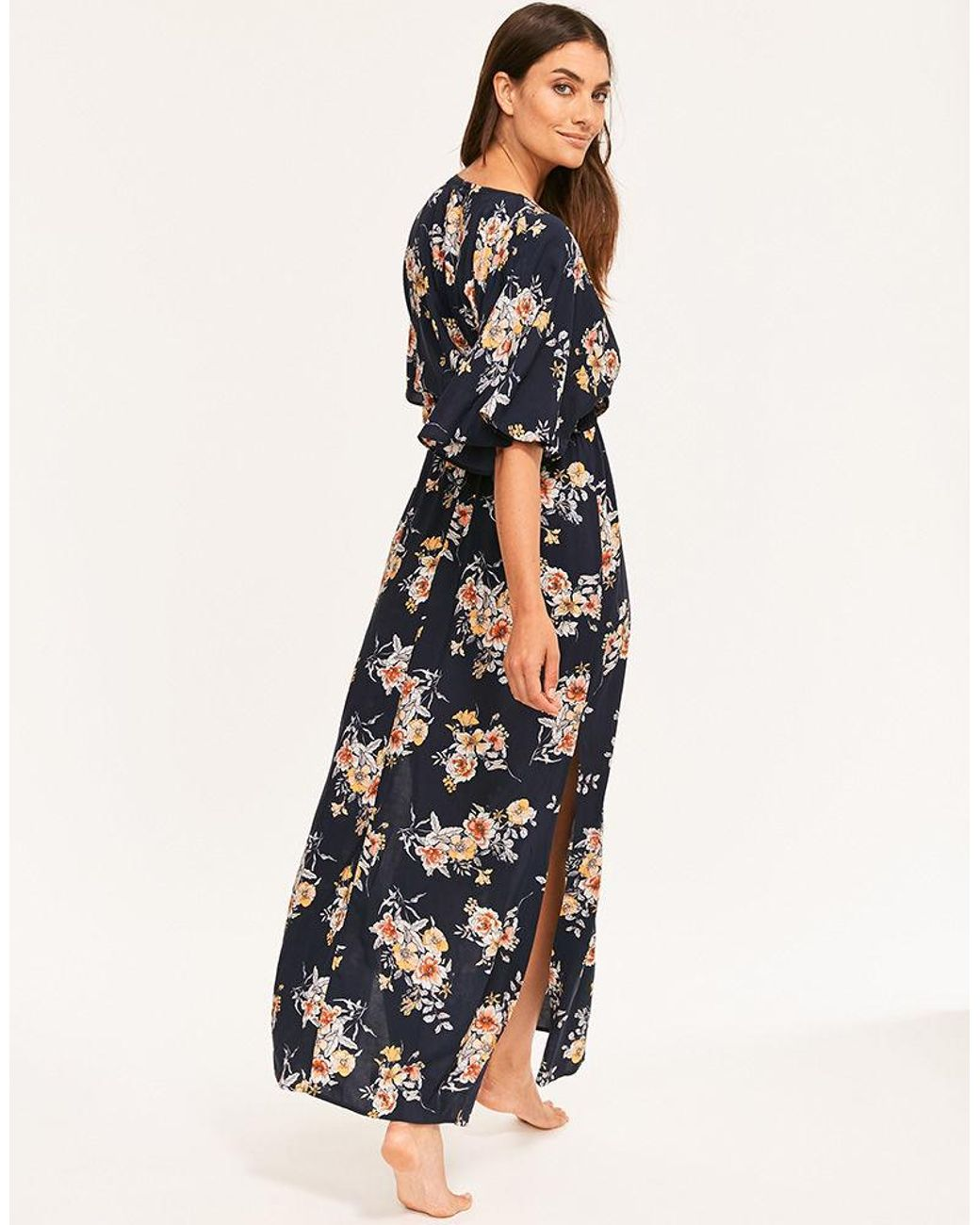 1abe876743 Seafolly Mid Summer Floral Maxi Dress in Blue - Lyst