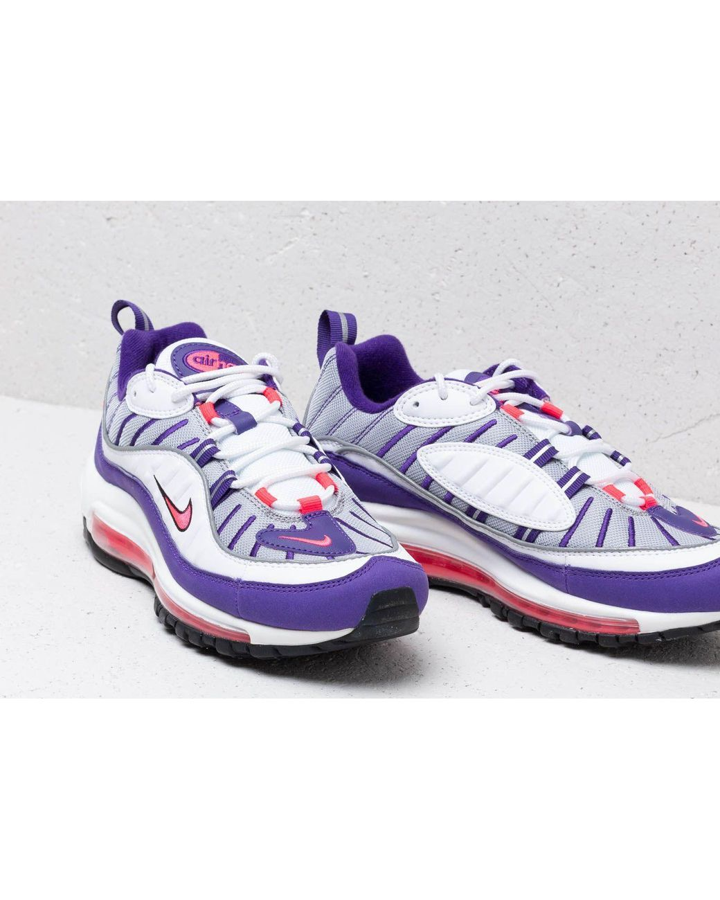 lowest price 15e7c 83a8a Nike W Air Max 98 White  Racer Pink-reflect Silver-black in White - Lyst