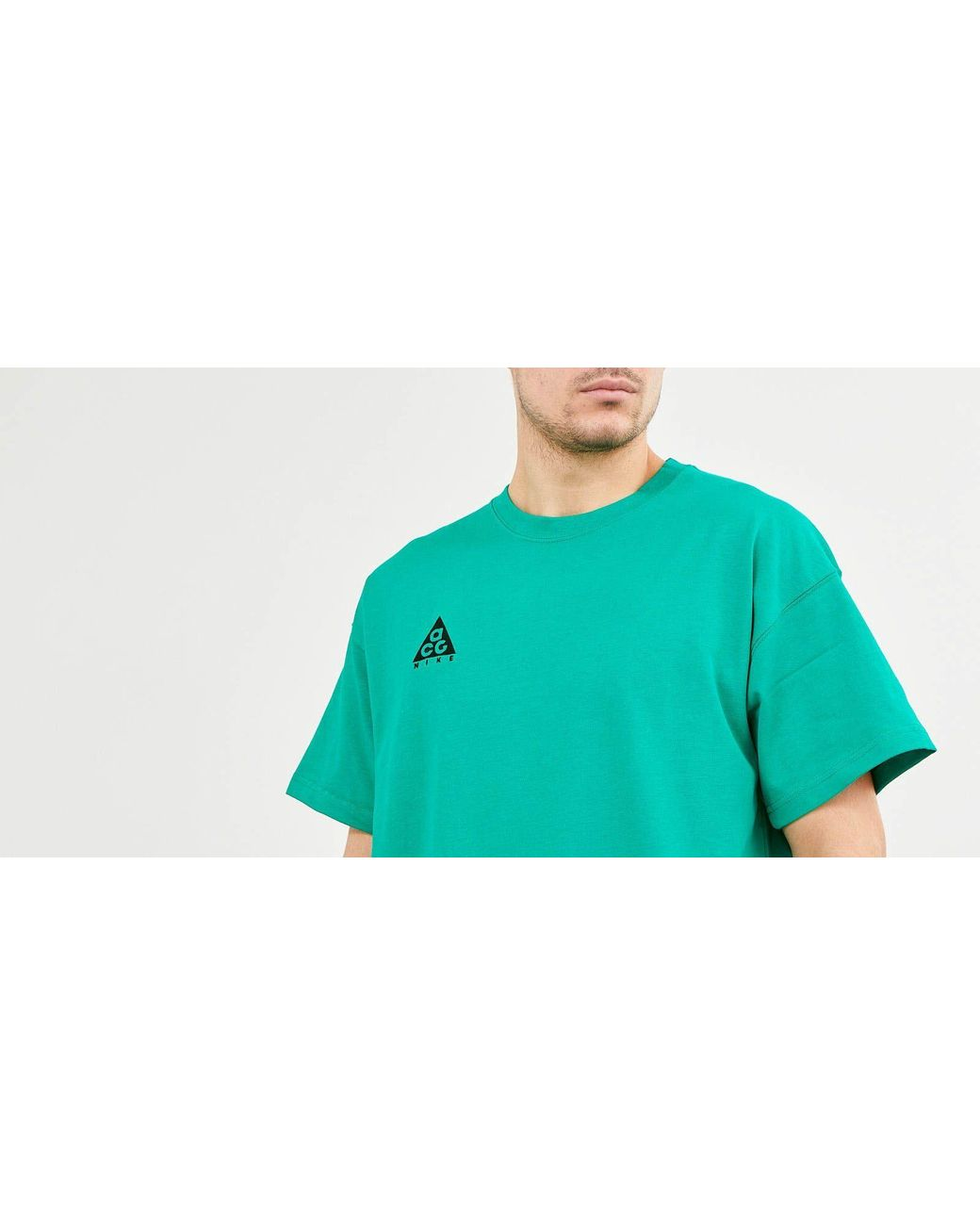 9641702f Nike Acg Logo Tee Nrg Lucid Green/ Black in Green for Men - Lyst