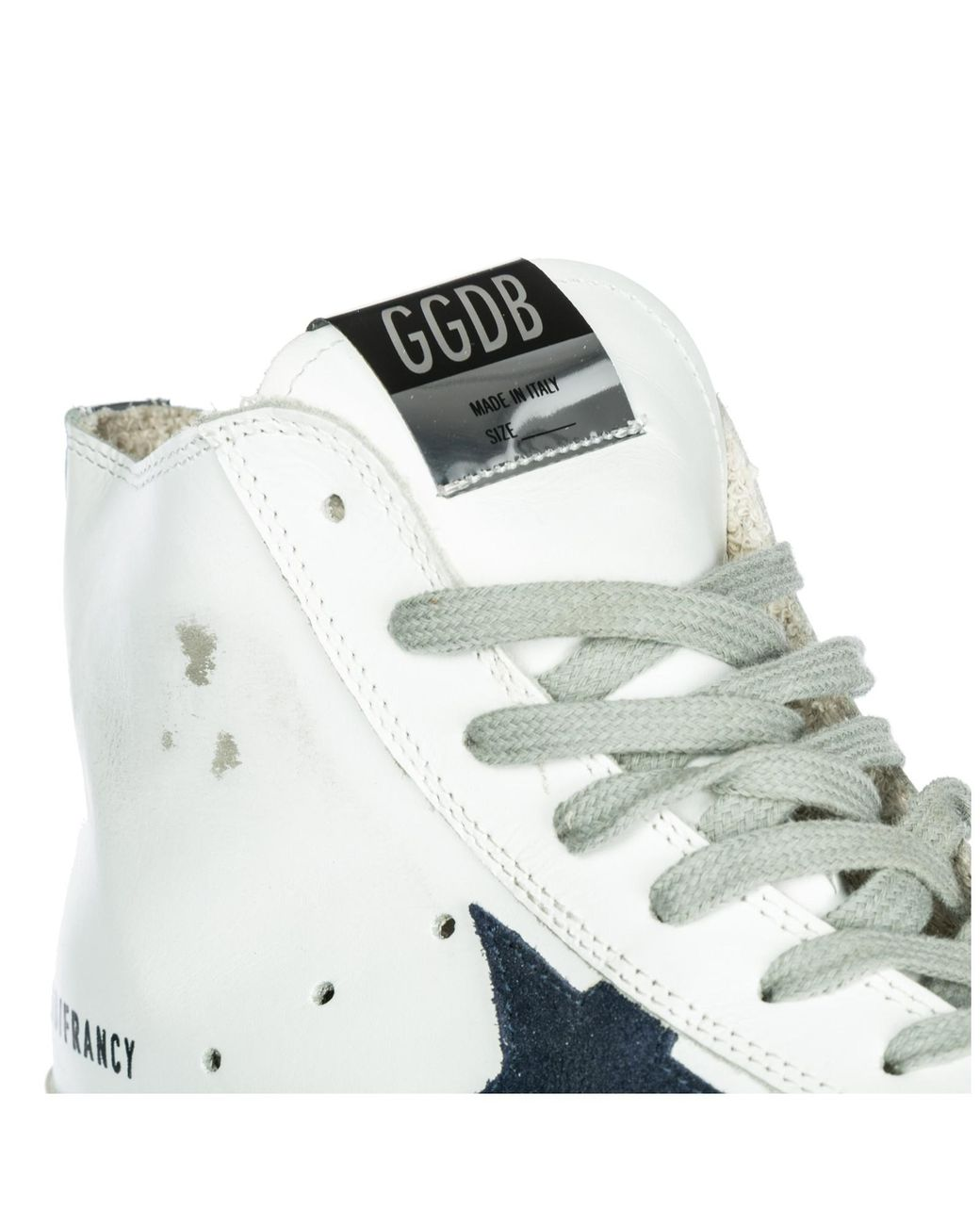 14e8371fb3dc golden goose deluxe brand women s white shoes high top leather trainers  trainers francy