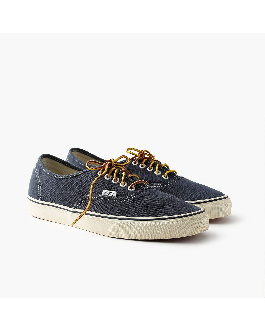 5bb6a792da Vans Washed Canvas Authentic Sneakers in Blue for Men - Lyst