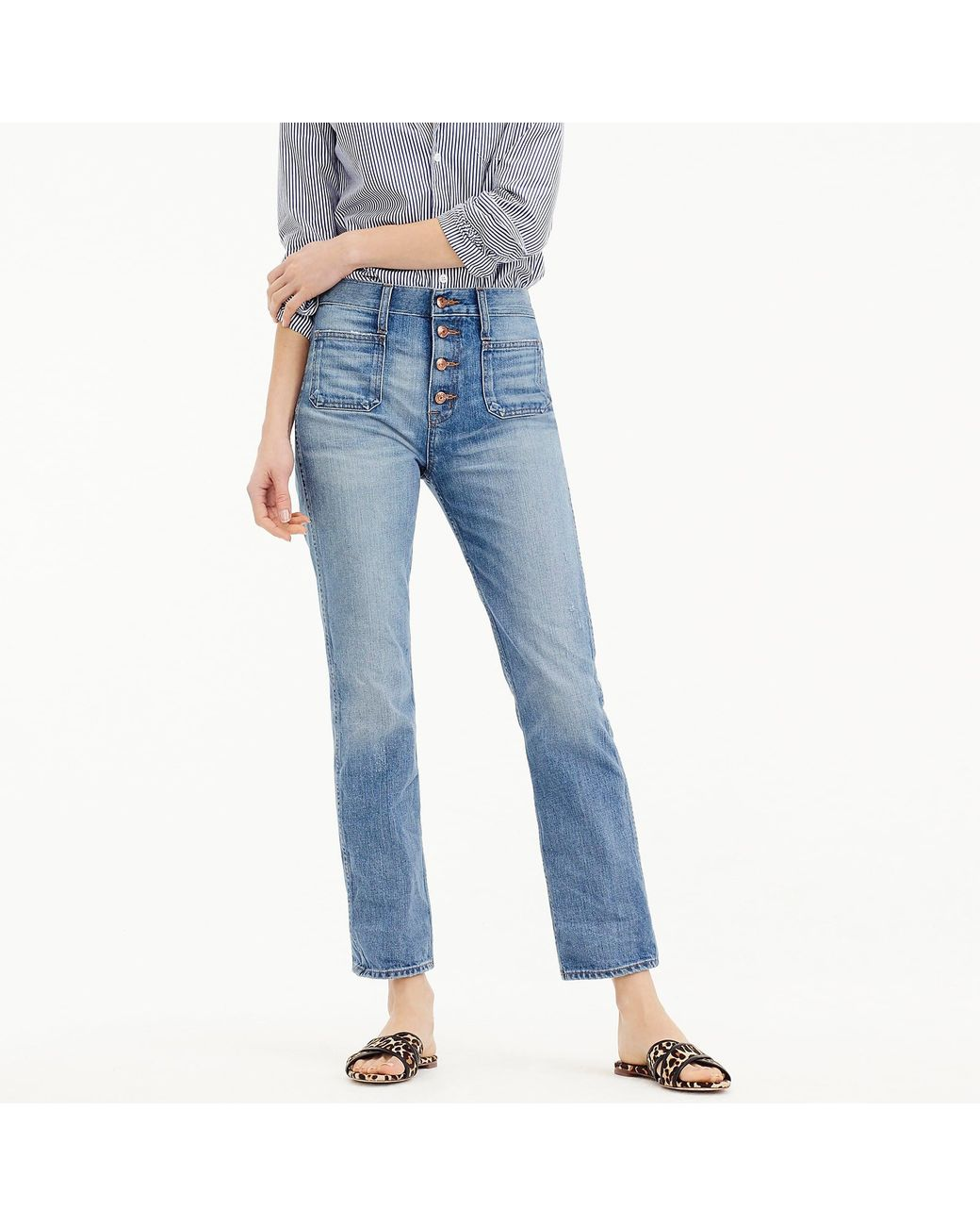 d70e9601de J.Crew Point Sur Vintage Patch-pocket Cropped Jean In Light Wash in ...