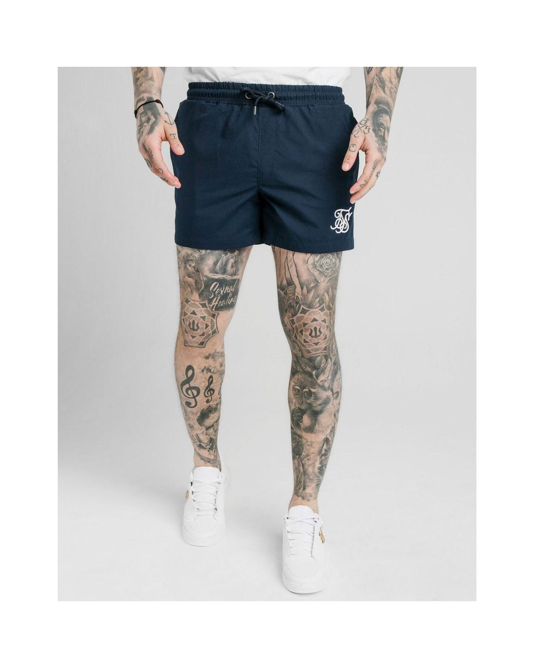 dc0f21b5ad SIKSILK Fade Panel Swim Shorts in Blue for Men - Lyst