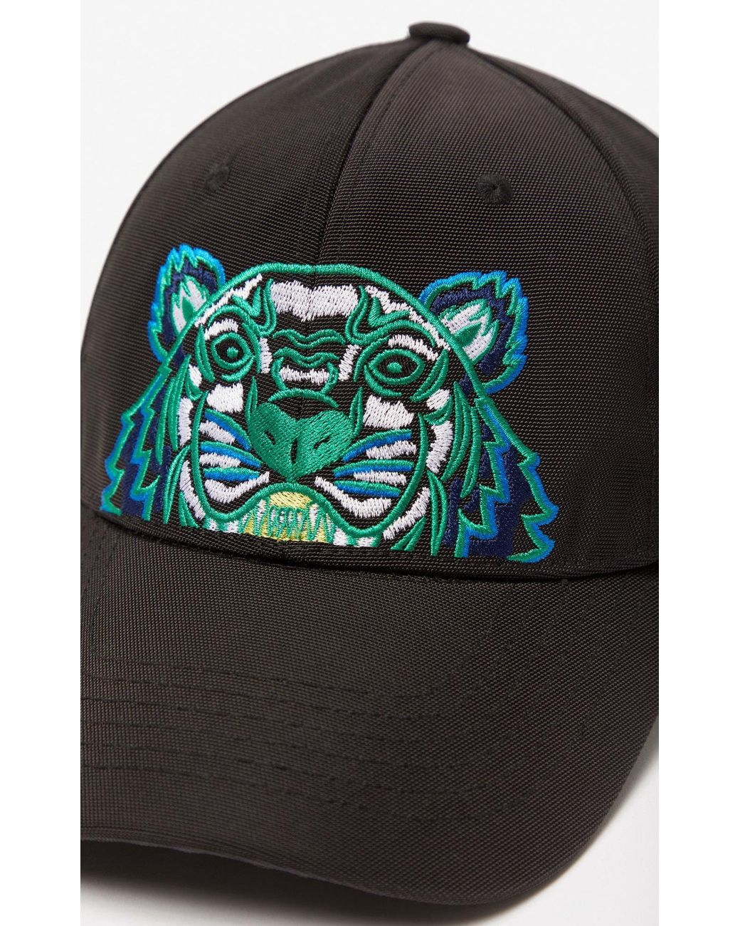 10a4f4eb3a4b69 KENZO Tiger Canvas Cap in Black for Men - Save 53% - Lyst