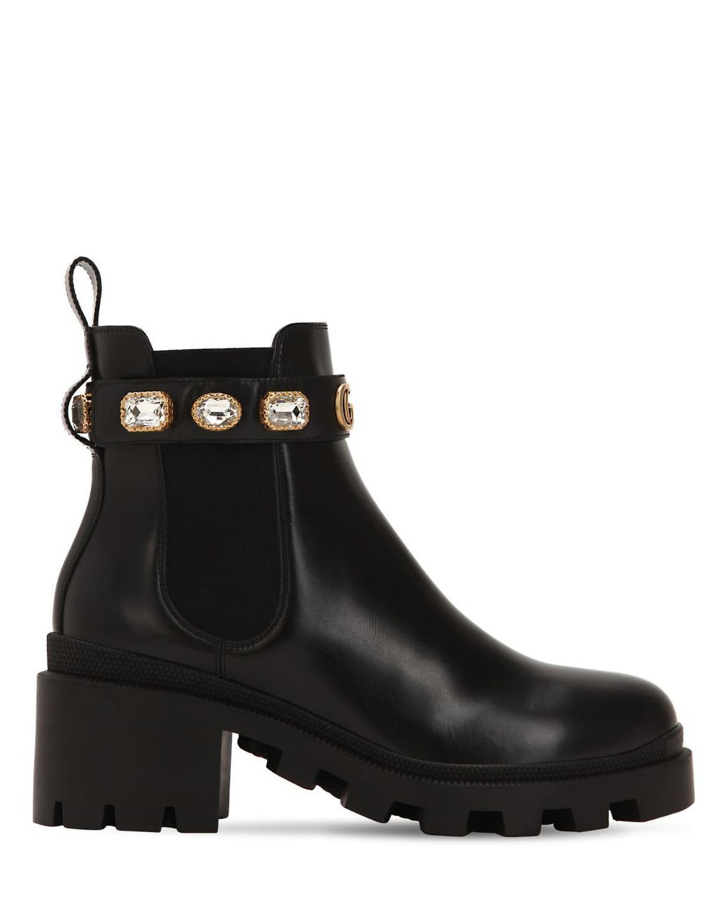 7bcf084830d Lyst gucci leather ankle boot with belt in black jpg 1040x1300 Ankle shoe  boots gucci