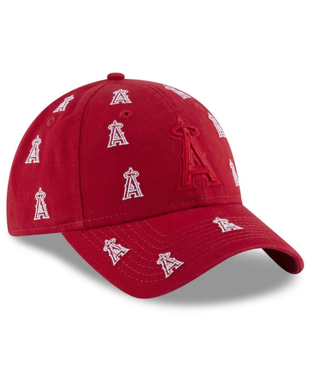 more photos a0445 4f9e9 KTZ Los Angeles Angels Logo Scatter Adjustable 9twenty Cap in Red - Lyst