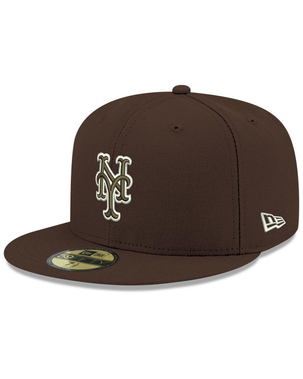 half off 448b3 6d5fa KTZ New York Mets Re-dub 59fifty Fitted Cap in Brown for Men - Lyst