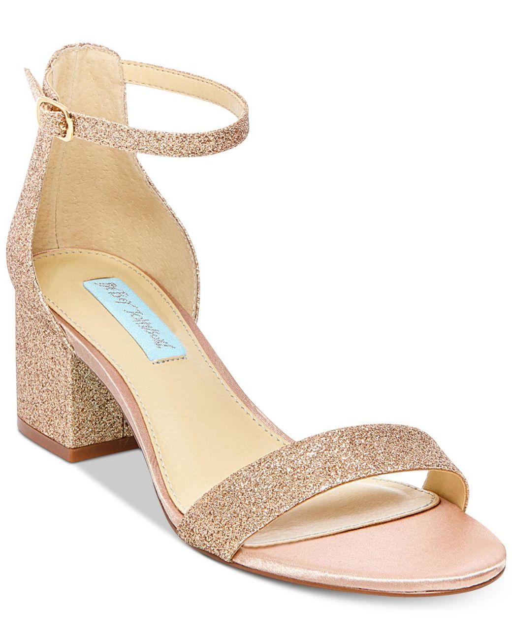 cab041adf44 Lyst - Betsey Johnson Miri Evening Sandals in Metallic