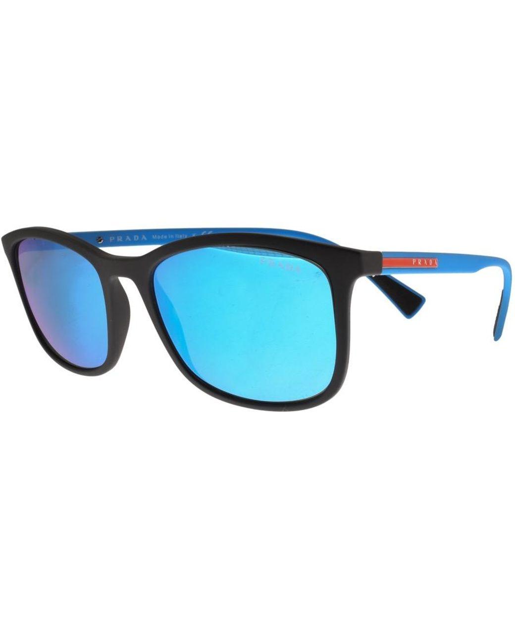 48e02ee53aa Prada Linea Rossa Sunglasses Blue in Blue for Men - Lyst