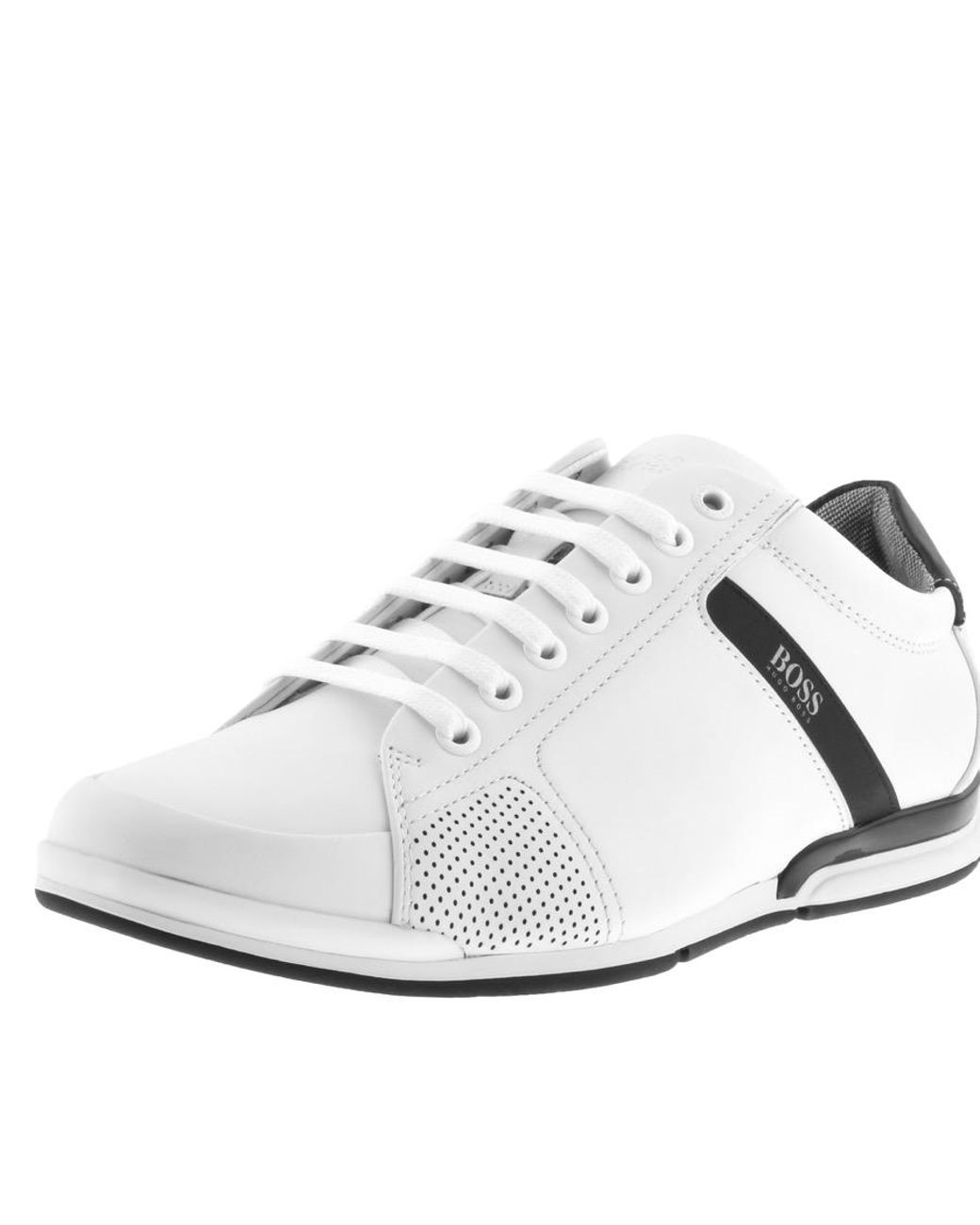 fbd872fb30 BOSS Athleisure Saturn Lowp Lux 4 Trainers White in White for Men - Lyst