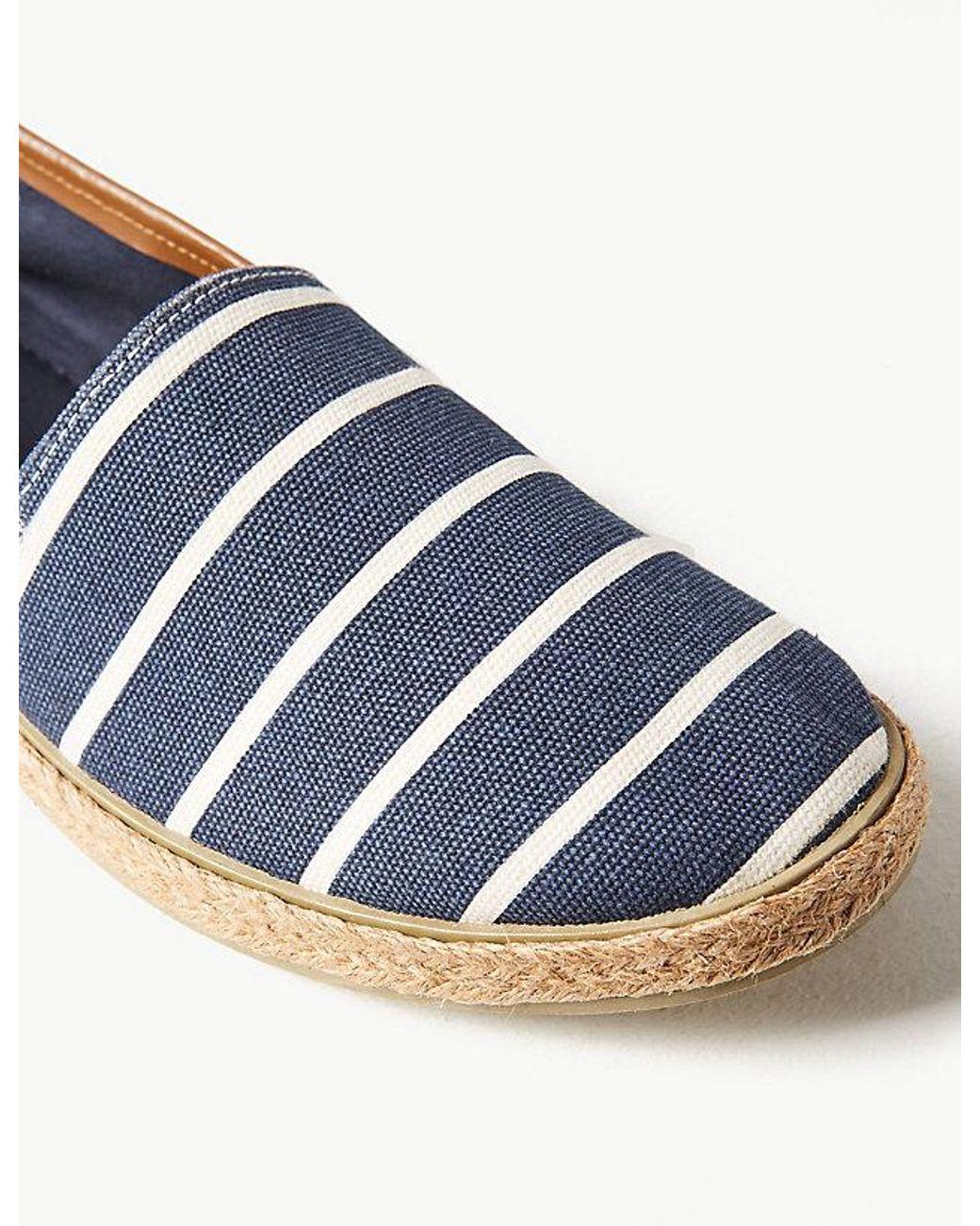 c68b26768 Marks & Spencer Cotton Slip-on Espadrilles in Blue for Men - Lyst