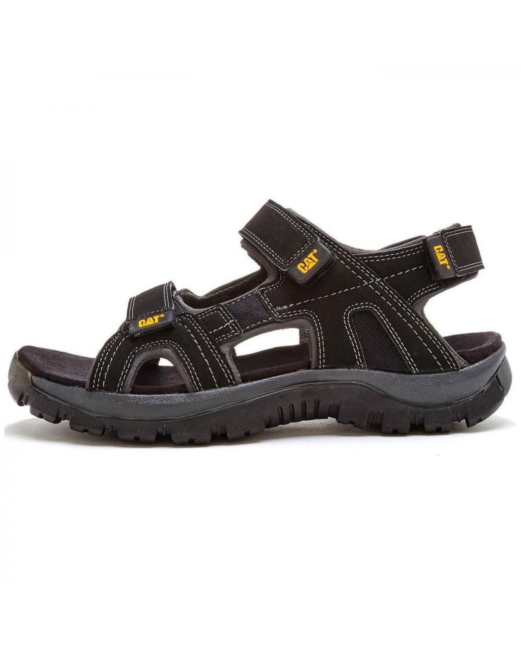 1183a2008afa2 Caterpillar Cat Giles Wide Fit Adjustable Leather Sports Walking Sandals in  Black for Men - Lyst