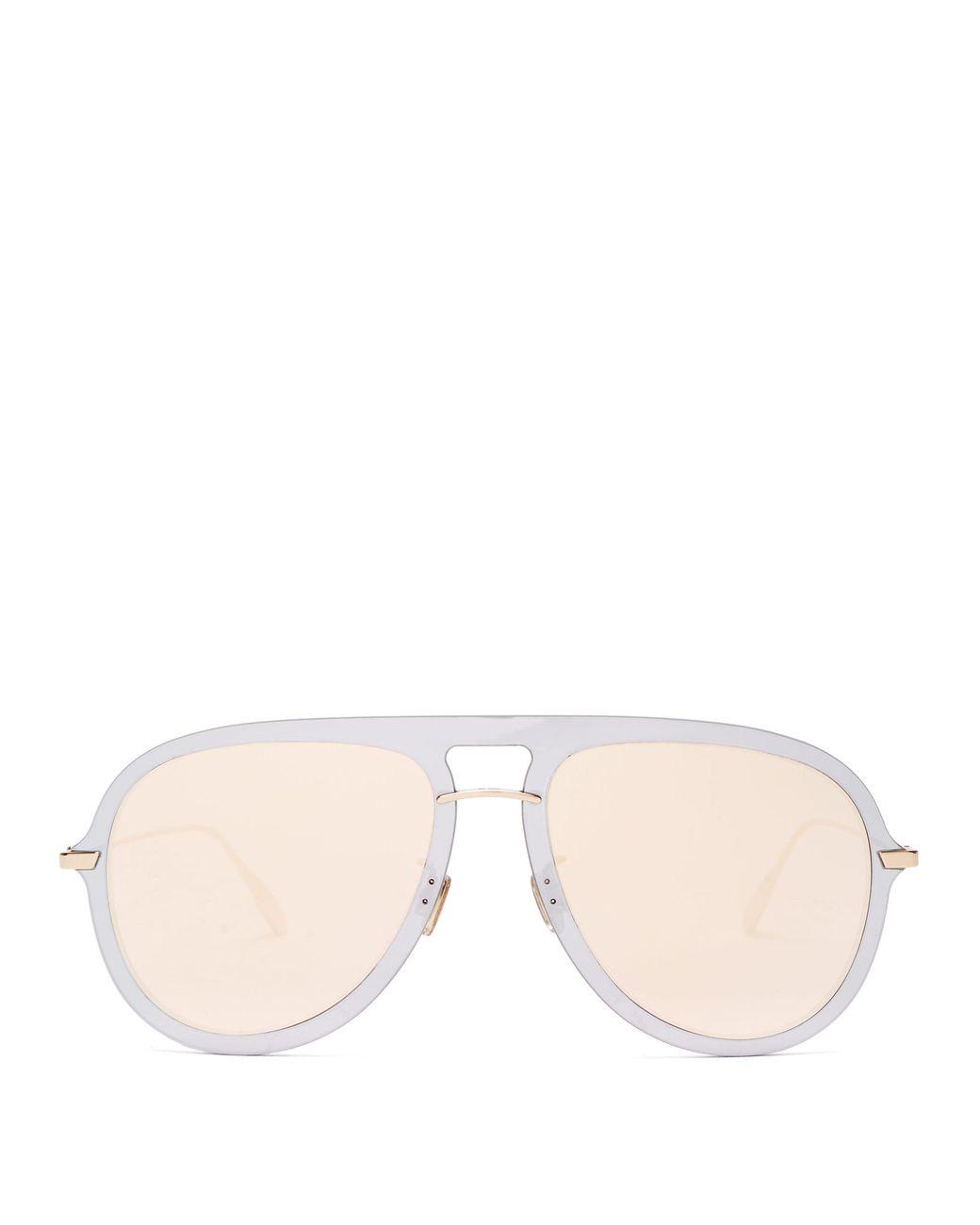 654c14642fb4 Dior Diorultime1 Mirrored Aviator Sunglasses in Metallic - Lyst