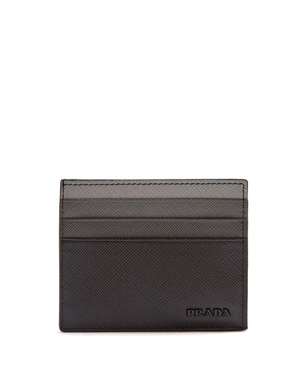 cdd38d52659 Prada Saffiano Leather Cardholder in Black for Men - Lyst