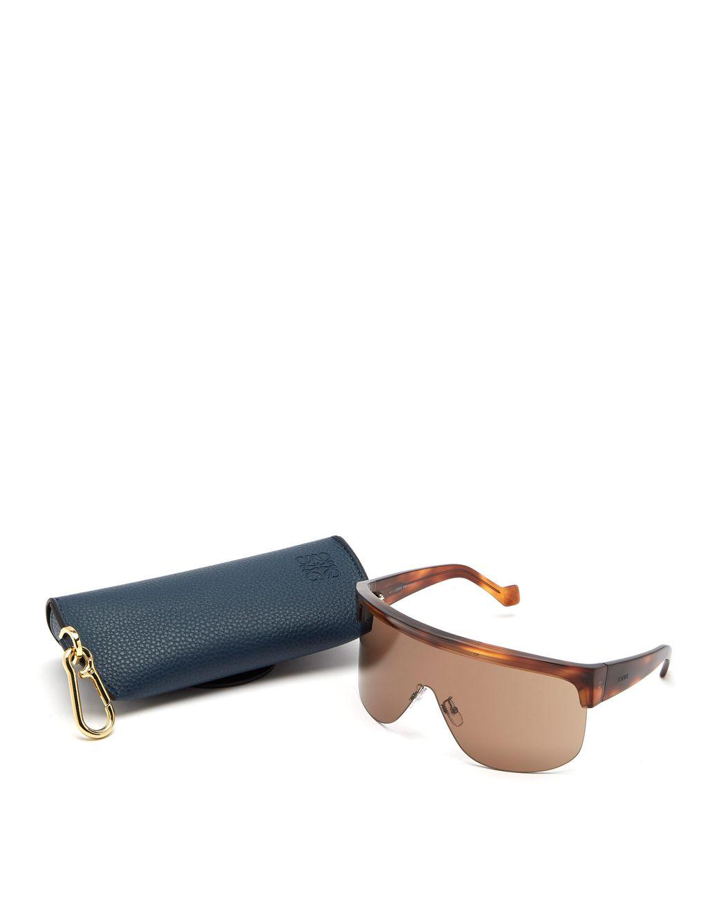 93de80c995 Loewe Show D Frame Visor Sunglasses in Brown - Lyst