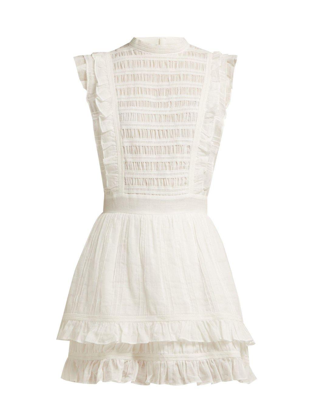 8541701099 Lyst - SIR Aurelie Open Back Cotton Dress in White