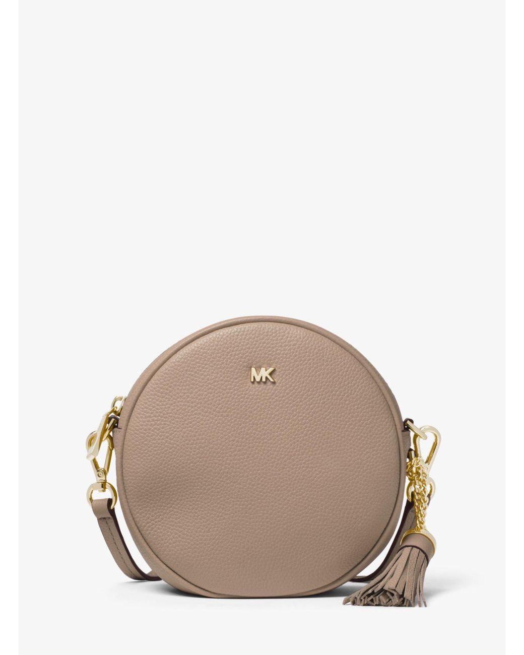 9d7380a74f0c MICHAEL Michael Kors. Women s Brown Mercer Medium Pebbled Leather Canteen  Crossbody