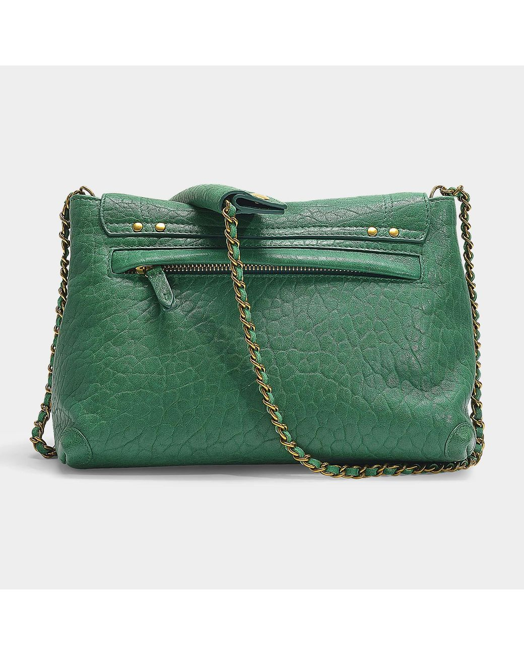 bc4ad36595a8 Jérôme Dreyfuss Lulu M Bag In Green Bubble Lambskin in Green - Save 1% -  Lyst