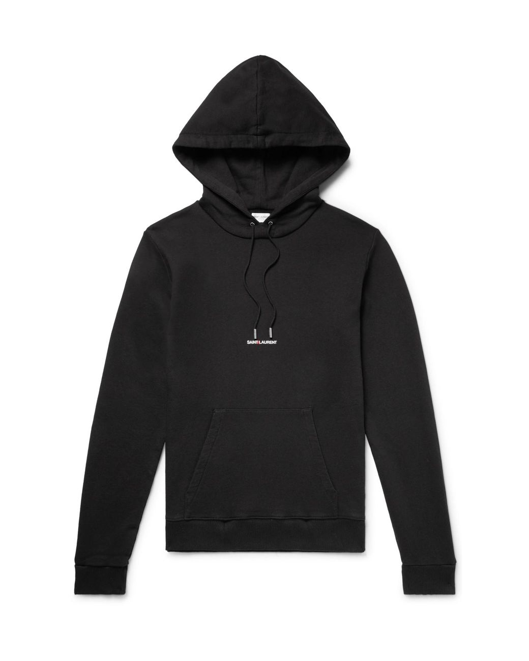 44dd92419a6 Saint Laurent Logo-print Loopback Cotton-jersey Hoodie in Black for ...