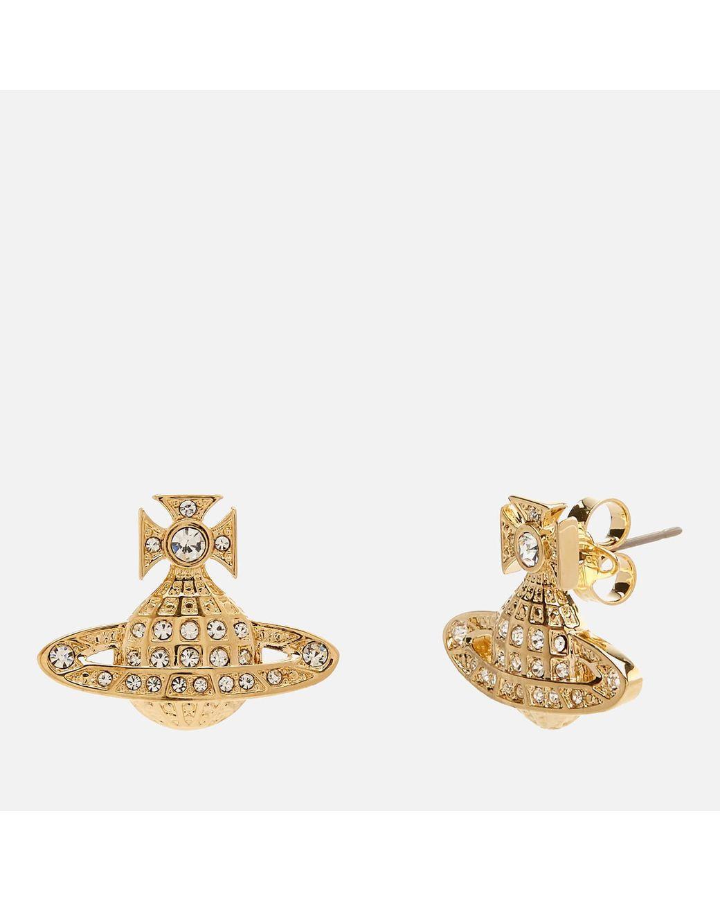 4b1392281 Vivienne Westwood Minnie Bas Relief Earrings in Metallic - Lyst