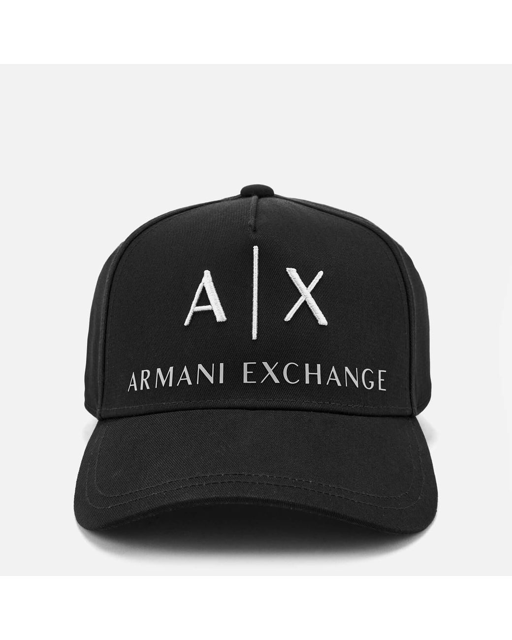 505a21a7465 Lyst - Armani Exchange Logo Cap in Black for Men - Save 39%