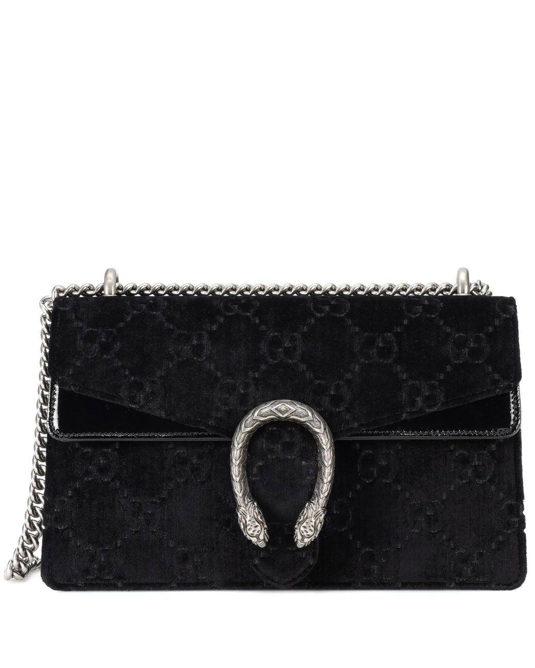 d65aa488e Gucci Dionysus GG Small Velvet Shoulder Bag in Black - Save 21% - Lyst