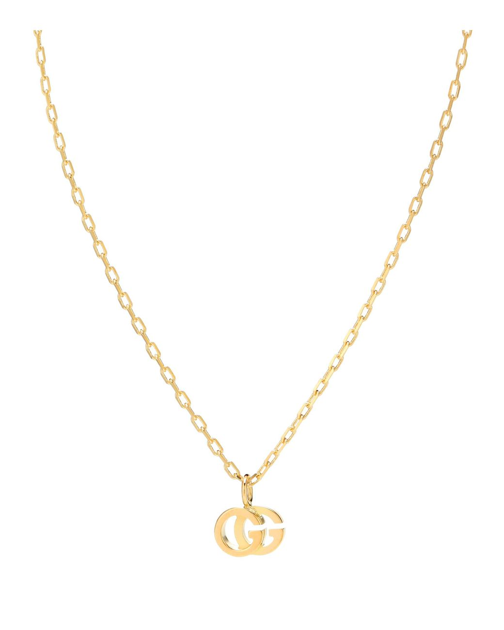 7ca179b7f Gucci Double G 18kt Gold And Topaz Necklace in Metallic - Lyst