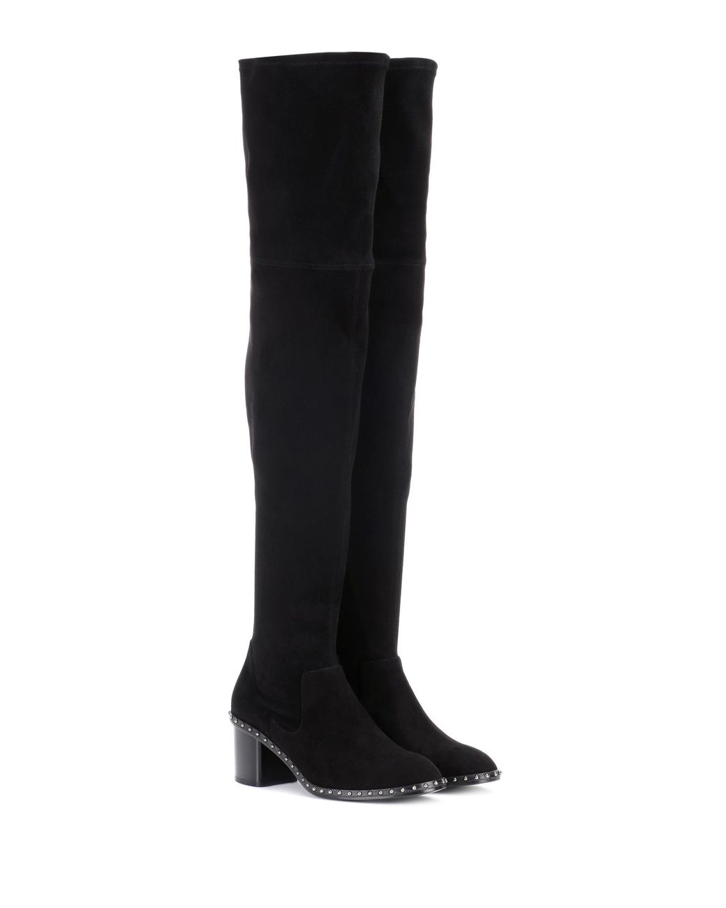8be10f21f58 Rag   Bone Rina Suede Over-the-knee Boots in Black - Lyst
