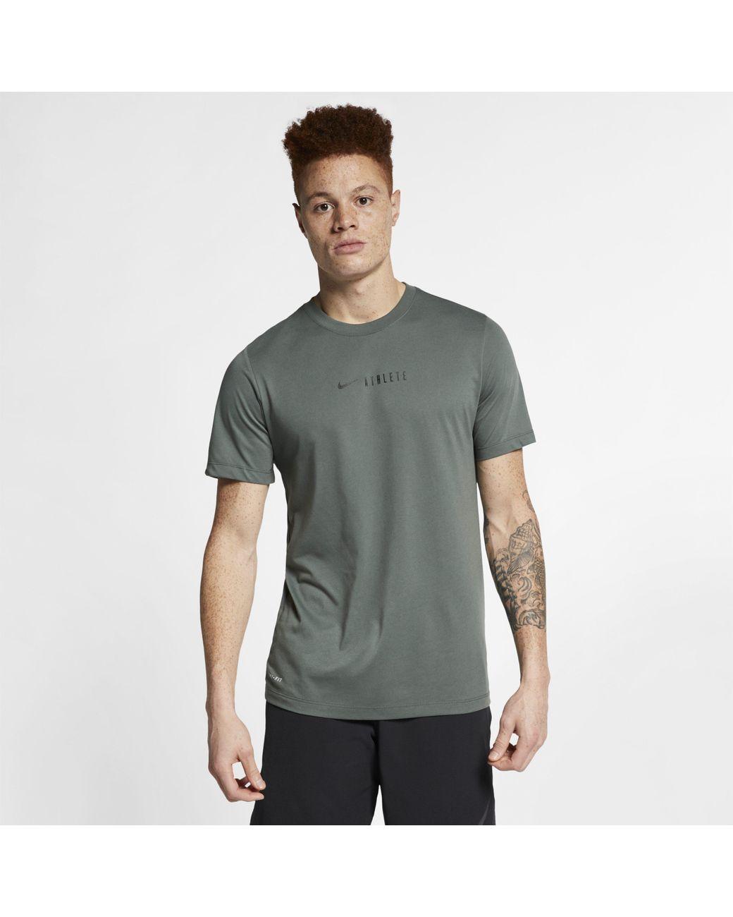 5b83a2ec8 Nike Dri-fit Training T-shirt in Green for Men - Lyst