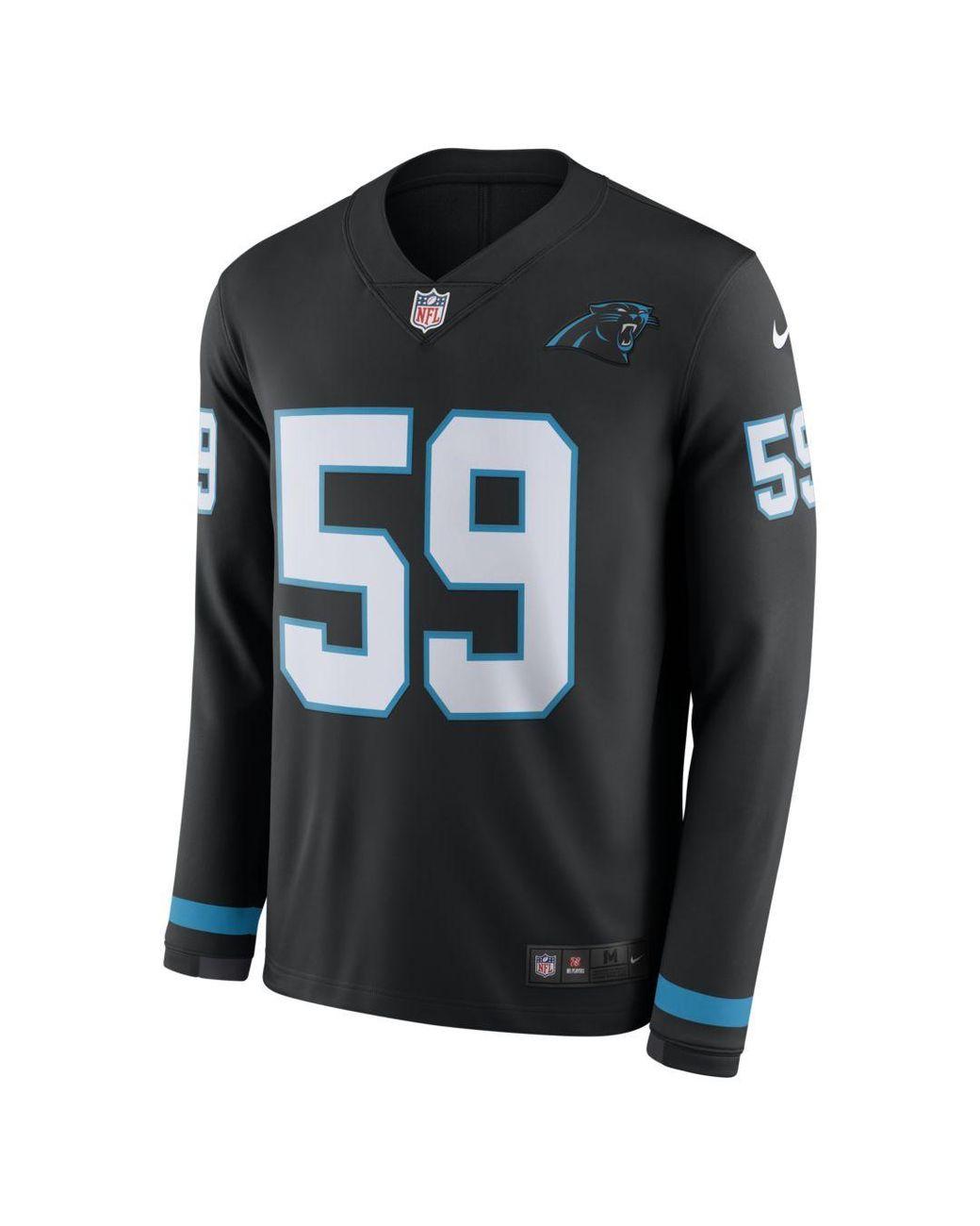 newest 5e8cb de1c2 Lyst - Nike Nfl Carolina Panthers Jersey (luke Kuechly) Long ...